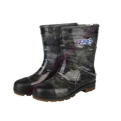 Mens Military high top Boot Rain Rubber Camo galoshes Waterproof Antiskid Worker