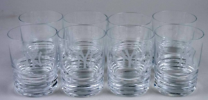 Baccarat NY Yankees Low Ball Glass (8 Available) - Mint Condition