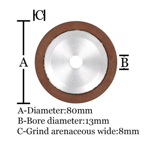 "3/"" 80mm Resin Diamond Grinding Wheel Carbide Cutter Grinder Sharpener 150 Grit"