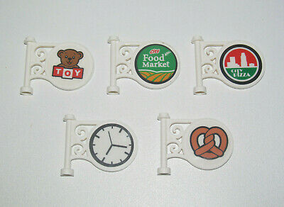 Lego ® Paneau Magasin Enseigne Stickers Shop Sign Round Choose Pattern ref 13459