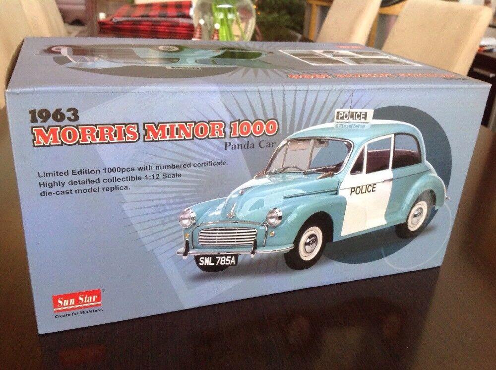 cómodamente 1 12 Diecast 1963 Morris Minor 1000 PANDA PANDA PANDA COCHE  policía  por SUNEstrella Raro  mejor marca