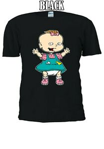Lillian-Deville-RUGRATS-Lil-CARTOON-Baby-Uomini-Donne-Unisex-T-shirt-2861