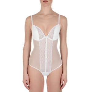La perla Bodysuit color  White  Size  34B 906406B - 25