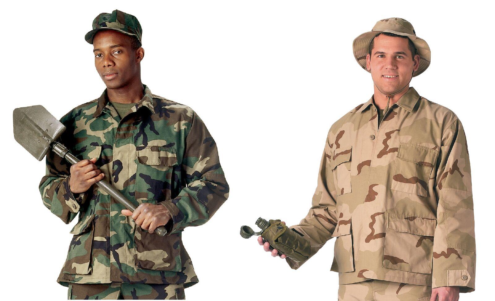 Rip-Stop Military B.D.U. Shirts  - 100% Cotton BDU Shirt
