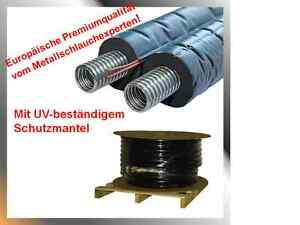 Solarleitung-Solarrohr-Doppelrohr-Edelstahlwellrohr-DN20x50m-Isolierung14mm