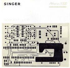 Singer 2000 Athena Electronic Sewing Machine Manual CD in pdf format