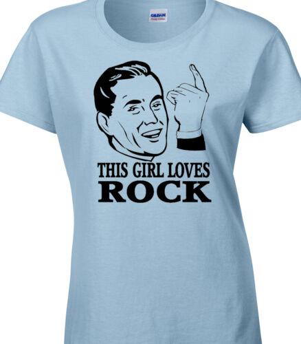 Rock Ladies T-Shirt Gift Rocker Love Music Band Rock And Roll Metal