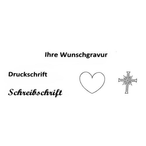 Ident Armband Gravur 19 cm Schildband Panzer Silber Namensarmband Identband Neu