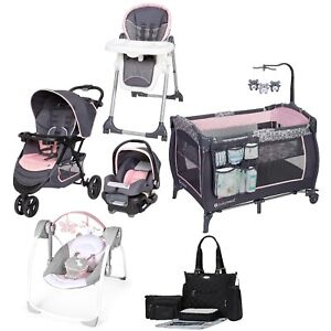 Travel System Baby Girl Anexa Wild