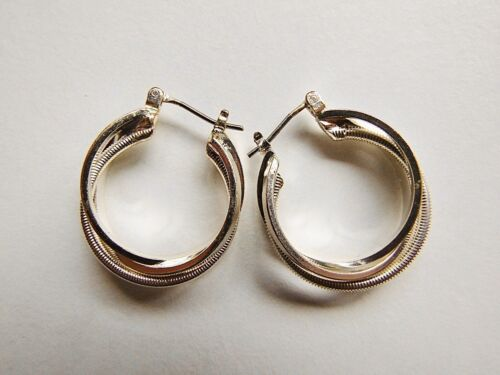 Fashion Gold Small Hoop Earrings 2CM Clipped Costume UK SELLER