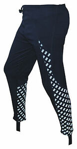 CHEX-Athens-Running-Tights-Leggings-Reflective-Print-Panel-Blue-Small-Medium