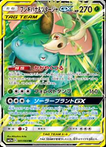 Tarjeta-De-Pokemon-Japones-Venusaur-amp-Snivy-Gx-RR-001-064-SM11a-Holo-Menta