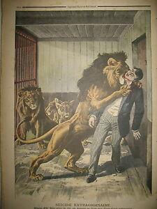 LIONS-SUICIDE-MENAGERIE-LAVAL-Gaux-LACROIX-TREMEAU-MILLET-LE-PETIT-JOURNAL-1908