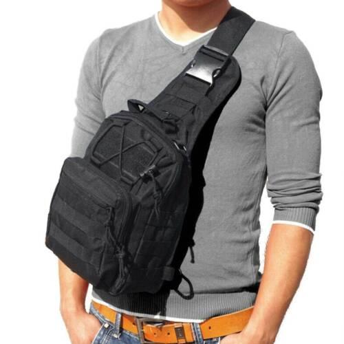 Tactical Sling Chest Pack Backpack Molle Shoulder Bag Outdoor Hiking Travel Men