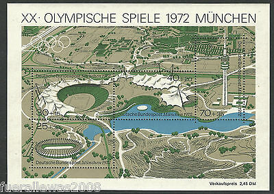 Deutschland MiMr. 723 - 726 ** Olympia München 1972  Mehrfachangebot vom Block 7