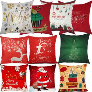 Cuscini Divano Natalizi.Copri Cuscino Natale Decorazione Natalizia Cuscini Natalizi Divano