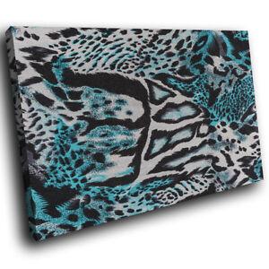 Blue-Jaguar-Fur-Coat-Funky-Animal-Canvas-Wall-Art-Large-Picture-Prints
