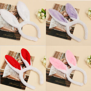 New-Plush-Fluffy-Bunny-Rabbit-Ears-Headband-Costume-Accessory-Dress-Up-Pop-FT