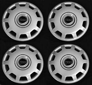 set (4pcs) wheel covers fits fiat 500 2010 - 2016 pop abarth 15