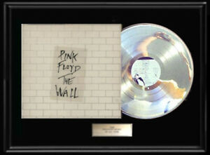 PINK-FLOYD-THE-WALL-ALBUM-FRAMED-LP-WHITE-GOLD-SILVER-PLATINUM-TONE-RECORD-RARE