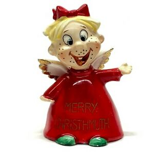 Vintage Christmas Merry Christhmuth Angel Daffy Bell Kreiss Co Psycho Ceramics Ebay
