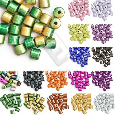300 Kunststoff Perlen 8mm Miracle Würfel Bunt Mix für Schmuck Acryl Perlen D62