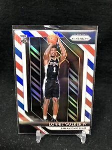 Lonnie-Walker-IV-Panini-Prizm-Red-White-Blue-RWB-Rookie-2018-19-251-Spurs-Q70