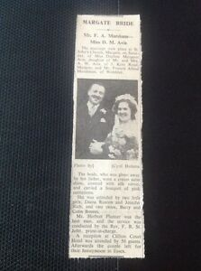 c2-2-ephemera-1950-Margate-Wedding-Mr-F-A-Marsham-Miss-D-M-Avis