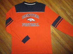 3bb4e975d DENVER BRONCOS T SHIRT Longsleeve Jersey Tee NFL Football Orange ...