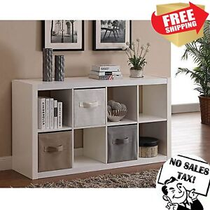 Details about 8-CUBE ORGANIZER Storage Shelf Rack Cabinet Closet Shelves  Living Room Furniture