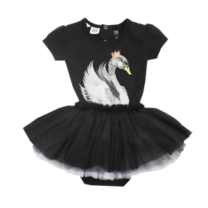 BNWT Rock Your Baby Black Short Sleeve Swan Lake Circus Dress Size 612mths
