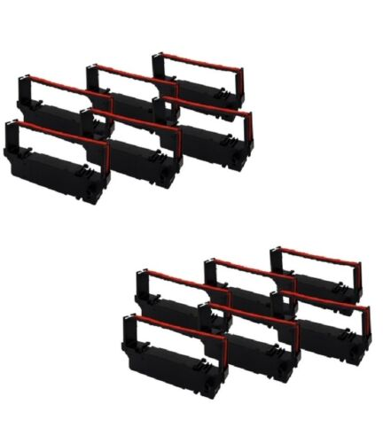 RC700BR 12 Pack Ribbons for Star Micronics SP700// SP712// SP742 Black//Red