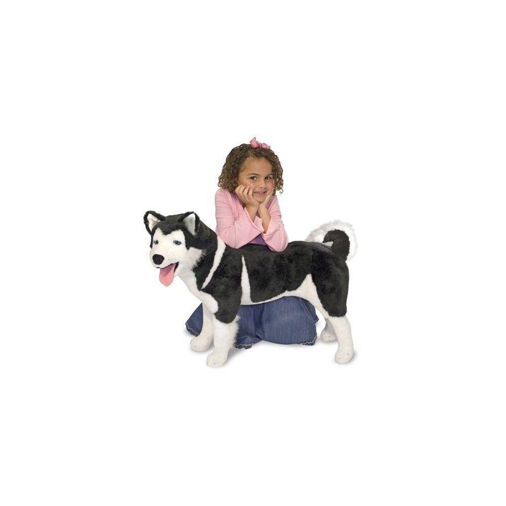 Melissa & Doug Giant Siberian Husky - Lifelike Stuffed Animal Dog (Over 2 Feet T