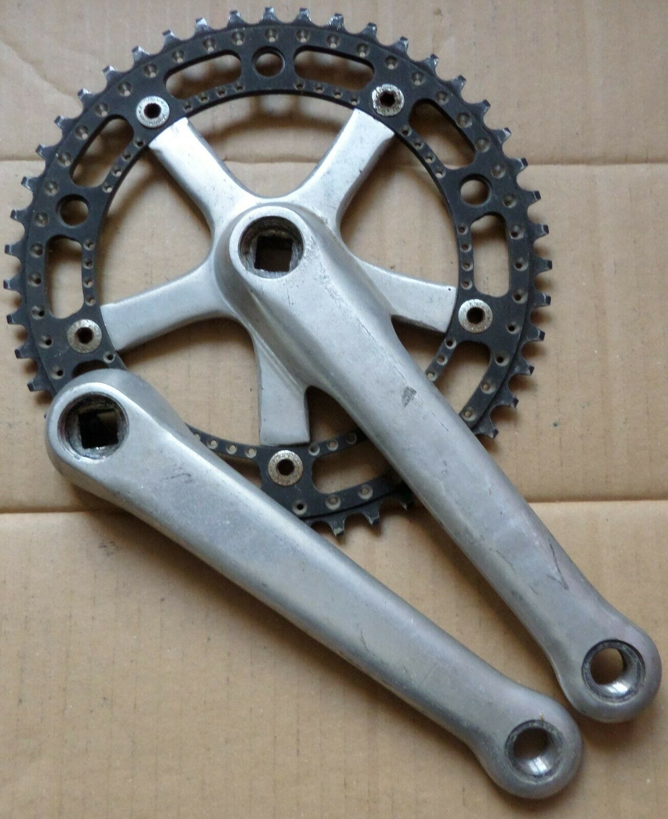 Very rare track cranks 172,5 and chainrings 47t;50t;52t CKTB XB3 Takhion