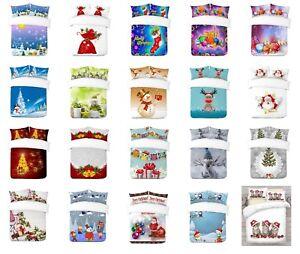 UK-Made-3D-Diseno-de-Navidad-digital-de-la-foto-Imprimir-Cubierta-del-edredon-edredon-o-Manta