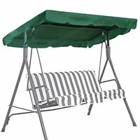 Durable Swing Canopy Replacement Porch Top Cover Patio Seat Furniture (green)