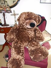"VERY SOFT BROWN  PLUSH CUDDLE GIANT TEDDY  BEAR  42"" JUMBO LIKE A BODY PILLOW"