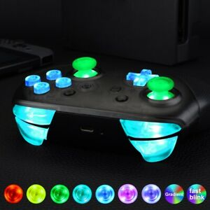 7-Colors-Luminated-Thumbsticks-D-pad-ABXY-DIY-DTFS-LED-Kit-for-NS-Pro-Controller