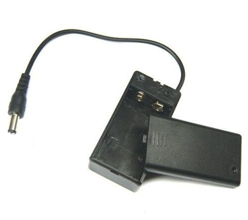 2PCS 9 V PP3 Batterie Titulaire boîte étui Wire Lead ON//OFF Switch Housse DC 2.1 mm Plug