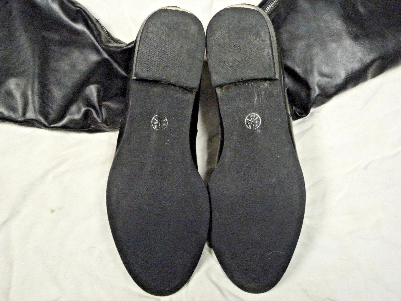 UNZE London leather black leather London knee high boot   Size 10   Eur 41 00461e