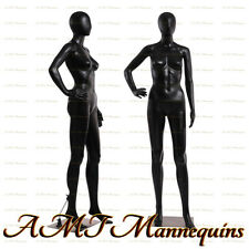 Female Display Mannequin Full Body Metal Stand Black Used Manikin Fc 11u1wig