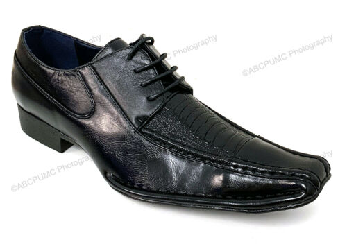 New Men/'s Dress Shoes Alligator Crocodile Lace Up Oxfords Western Leather Lined