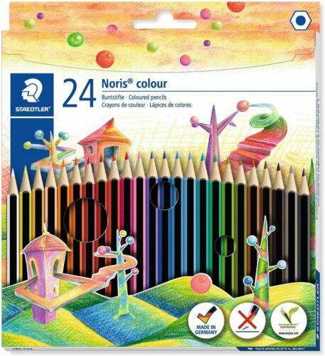 24x BUNTSTIFTE NORIS COLOUR FARBSTIFTE MALSTIFTE SET ETUI STAEDTLER