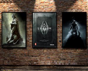 The Elder Scrolls V Skyrim poster quality printing 40x60cm Throwback style