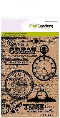 CraftEmotions clearstamps A6 - Hintergrund Uhren 011110