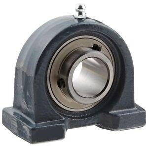 UCPA207 35mm Fuso 2-Bolt Ferro Corte Base Blocco Cuscinetto Auto Lubrificante