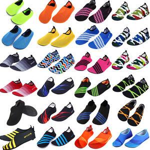 Men-Women-Water-Shoes-Aqua-Sock-Yoga-Exercise-Pool-Beach-Dance-Swim-Slip-On-Surf