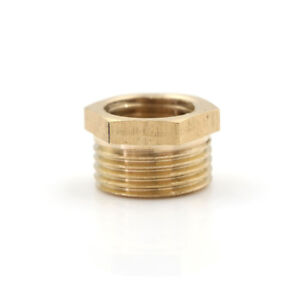 Brass-Pipe-Fitting-Reducing-Bushing-3-8-034-MNPT-x-1-4-034-NPT-F-Reducer-AdapterA9H