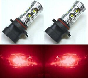 LED-50W-9005-HB3-Rosso-Due-Lampadine-Luce-DRL-Diurna-Ricambio-Lampada-Mostra-Uso