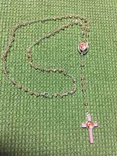 Hand Made Crystal  Rosary Rosa Mística- Hecho A Mano Rosario De Cristal Rosado